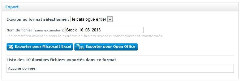 Outil d'export pour exporter toutes les fiches produtis d'une boutique en ligne
