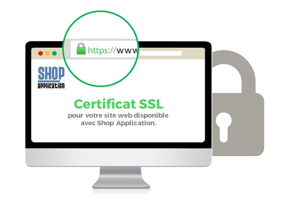 Certificat SSL pour sa boutique en ligne ou site internet vitrine avec la solution Shop Application