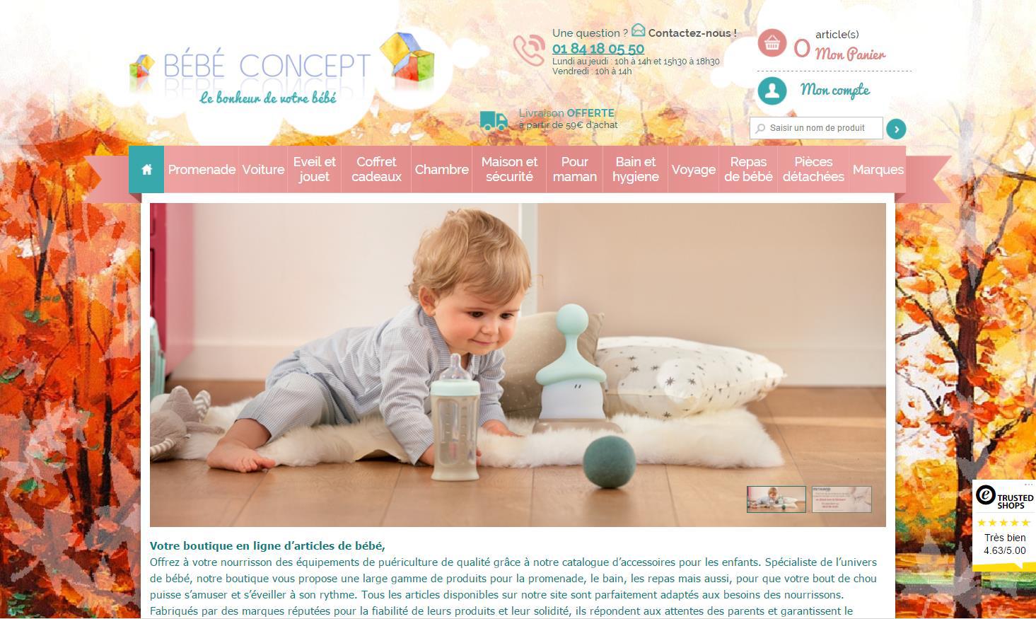 Client Bébé Concept utilisant le module d'avis Trusted Shops