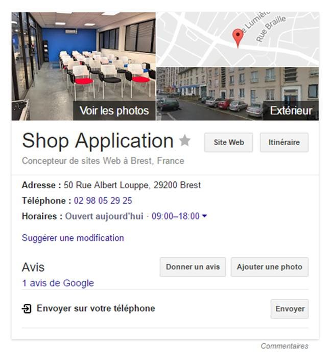 Outil Google My Business