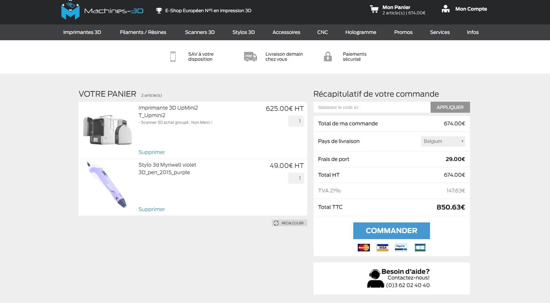 Une page panier e-commerce pour rassurer et pousser l'internaute à l'achat
