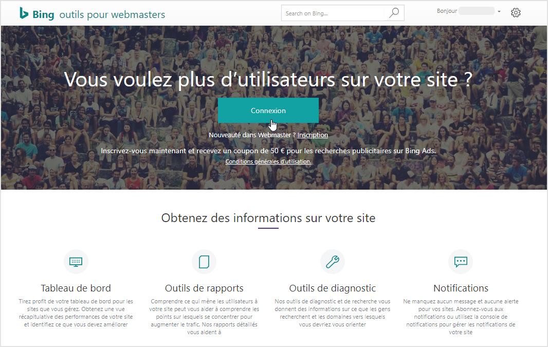 Bing Webmaster Tools : un outil facile et gratuit pour le referencement naturel de votre site internet