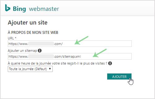 Ajouter son site internet et sitemap a Bing Webmaster Tools