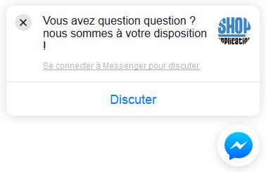 Plugin Facebook Messenger - Chat et discussion instantanée avec Shop Application