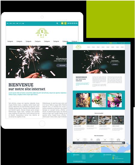 Theme de site Ewin pour la creation de site internet avec la solution Shop Application