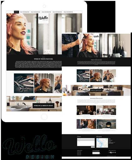 Theme de site Wello pour la creation de site internet avec la solution Shop Application