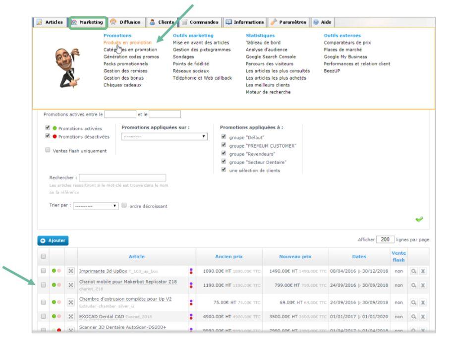 Mettre des produits en promotion sur sa boutique en ligne avec Shop Application