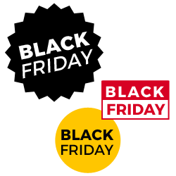 Pictogrammes du Black Friday a telecharger gratuitement, offerts par Shop Application