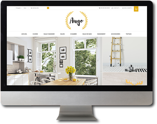 Theme Augo : Design de site pour la creation de boutique en ligne avec Shop Application