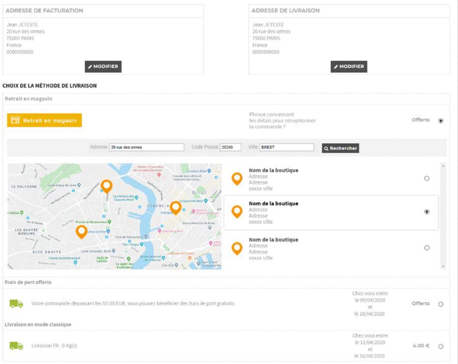 Click and Collect : Commande en ligne et retrait en magasin avec la solution Shop Application