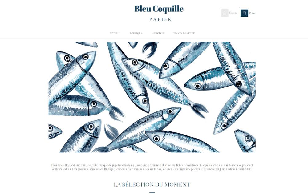Témoignage et avis client - Réalisation site internet Shop Application - Bleu Coquille