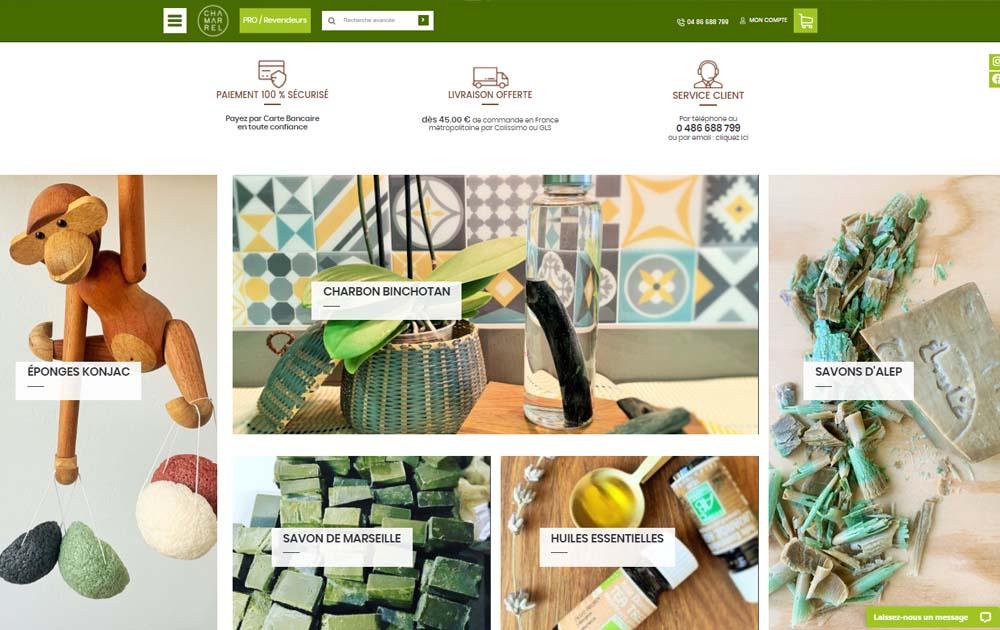 Référence client - Création site internet Shop Application - Chamarrel