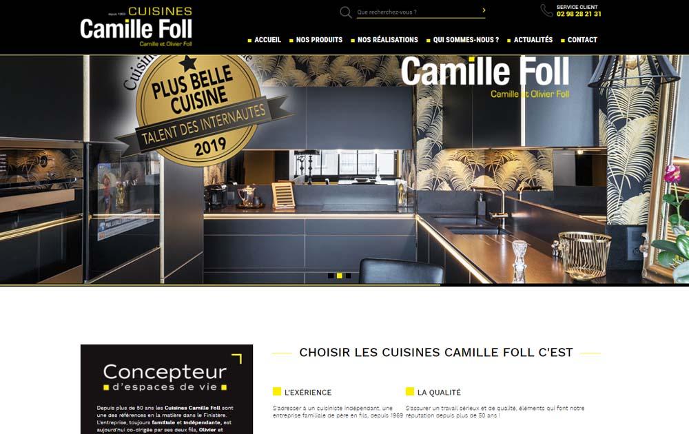 Référence client - Création site internet Shop Application - Cuisines Camille Foll