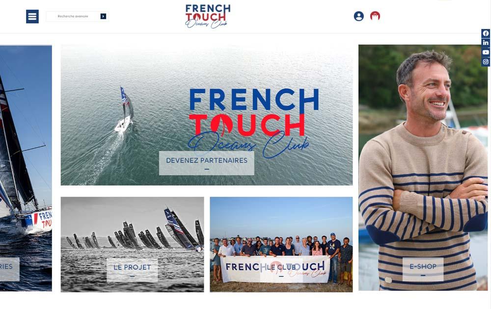 Référence client - Réalisation site internet Shop Application - French Touch Oceans Club