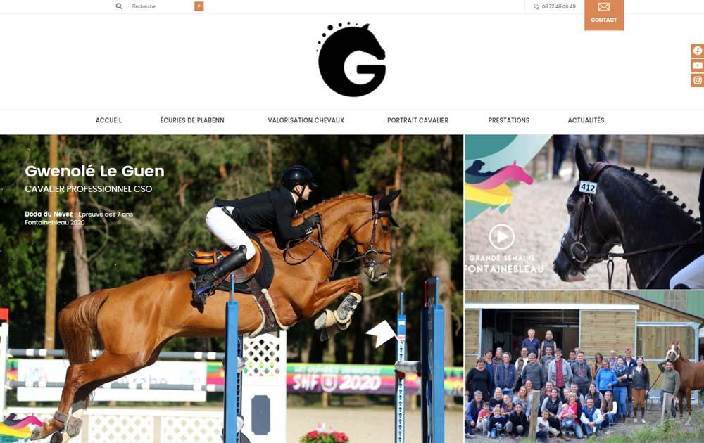 Référence client - Création site internet Shop Application - Gwenole Le Guen - Ecuries de Plabenn