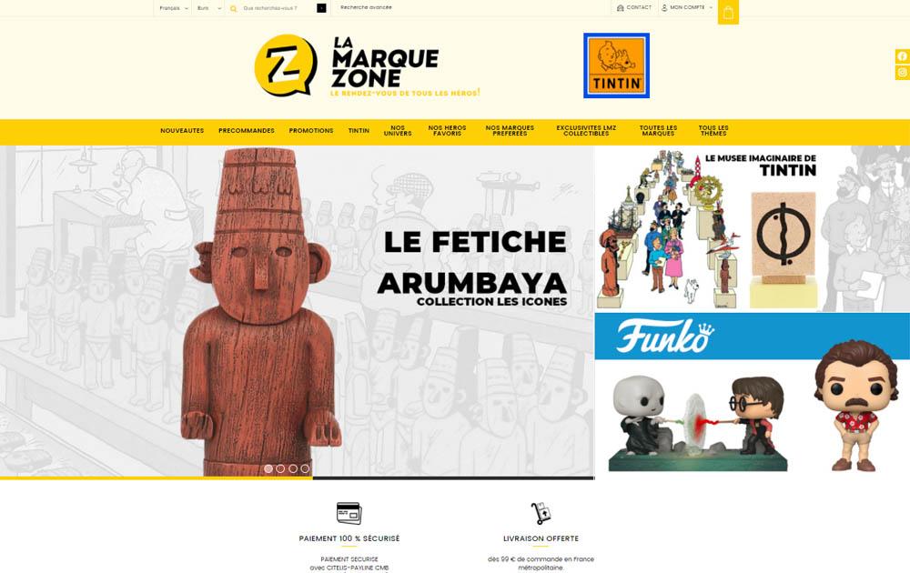 Référence client - Réalisation site internet Shop Application - La Marque Zone