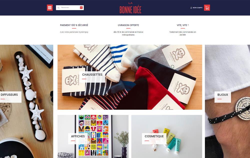 Reference client Realisation site internet Shop Application - La Bonne idee