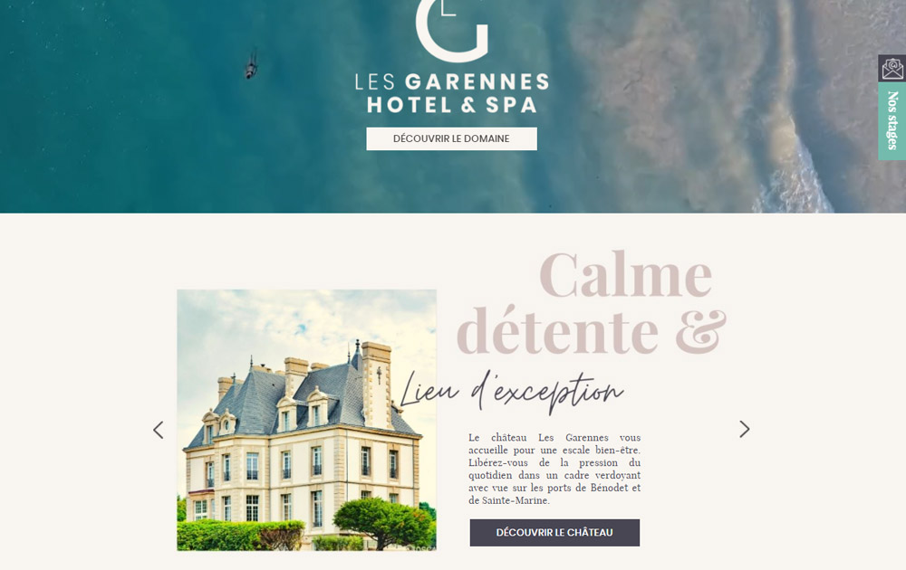 Référence client - Réalisation site internet Shop Application - Les Garennes