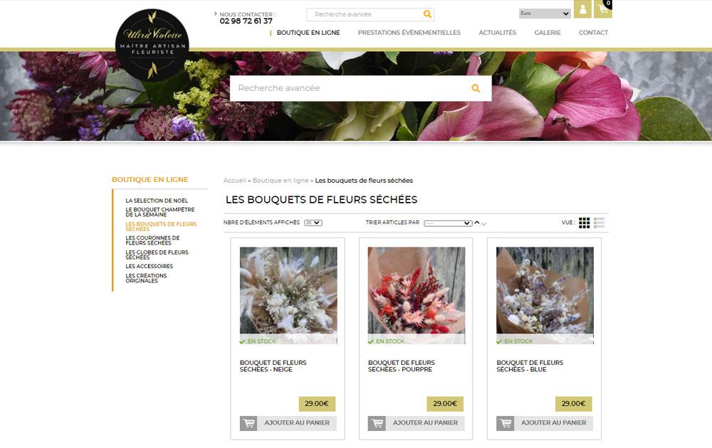 Temoignage client Realisation site internet Shop Application Ultra Violette