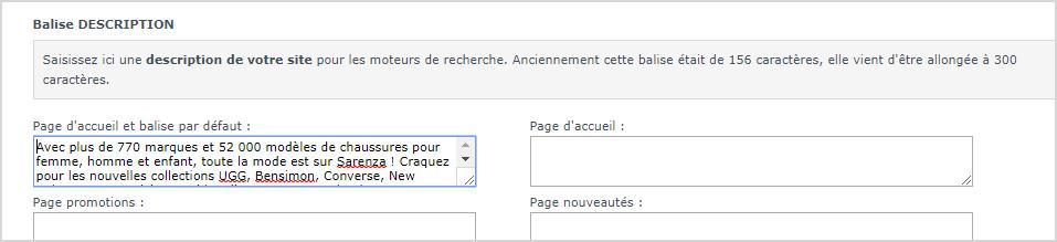 Referencement naturel : Personnaliser la balise META description dans votre site internet avec Shop Application
