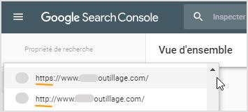 Certificat SSL : Nouvelle propriété dans la Google Search Console pour son site internet en HTTPS