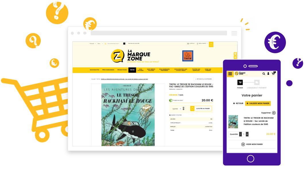 Prix pour la création de site e commerce ou boutique en ligne avec Shop Application
