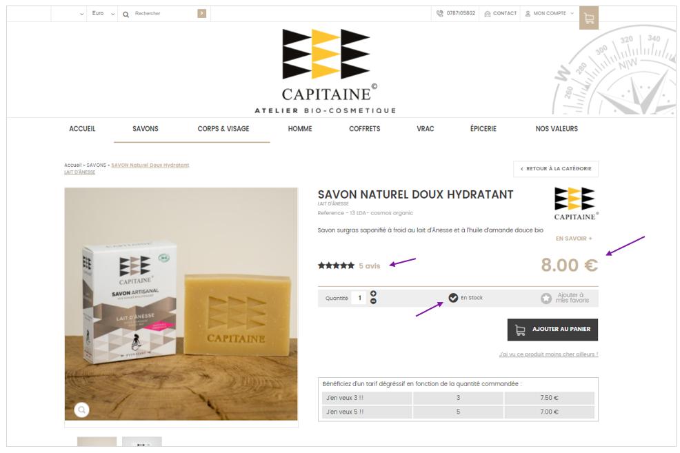 Les donnees structurees permettent aux moteurs de recherche de récupérer de precieuses informations - Exemple de la boutique en ligne Ocapitaine