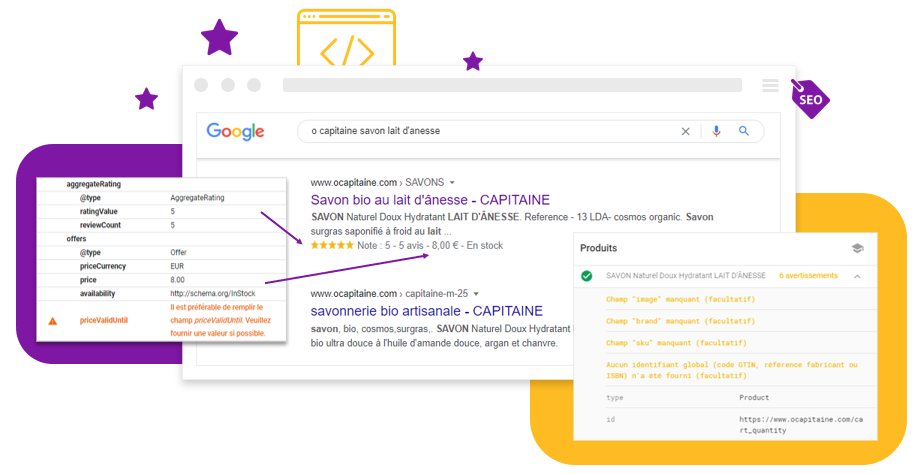 Donnees Structurees : Importante mise a jour par Shop Application pour favoriser le referencement naturel SEO