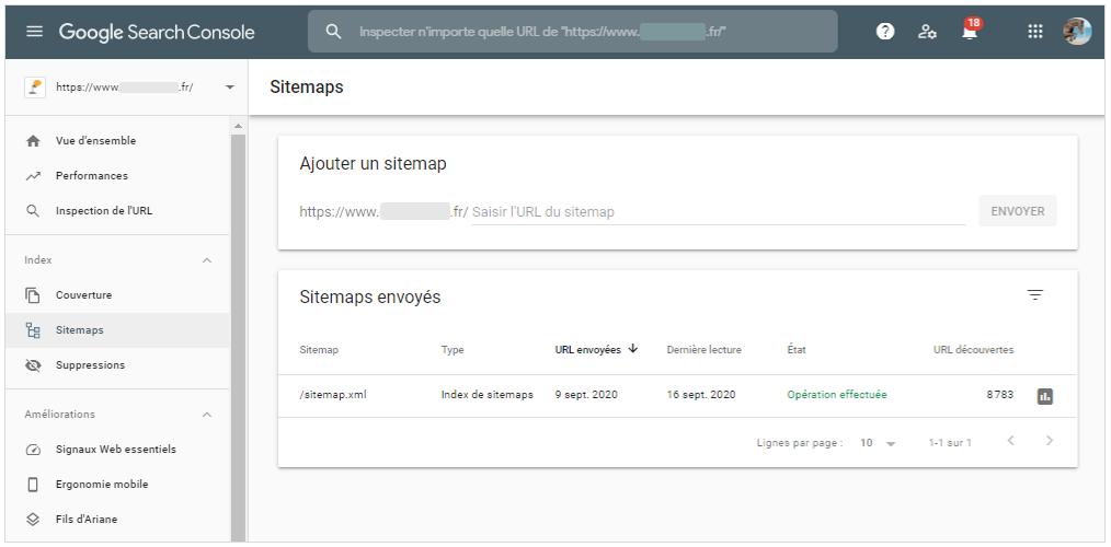 Indexation et referencement naturel : Inscrire son site internet et boutique en ligne a la Google Search Console avec le nom de domaine et sitemap