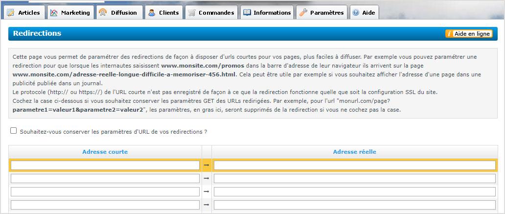 Outil de redirections avec Shop Application pour ne pas perdre le referencement lors de refonte de boutique en ligne