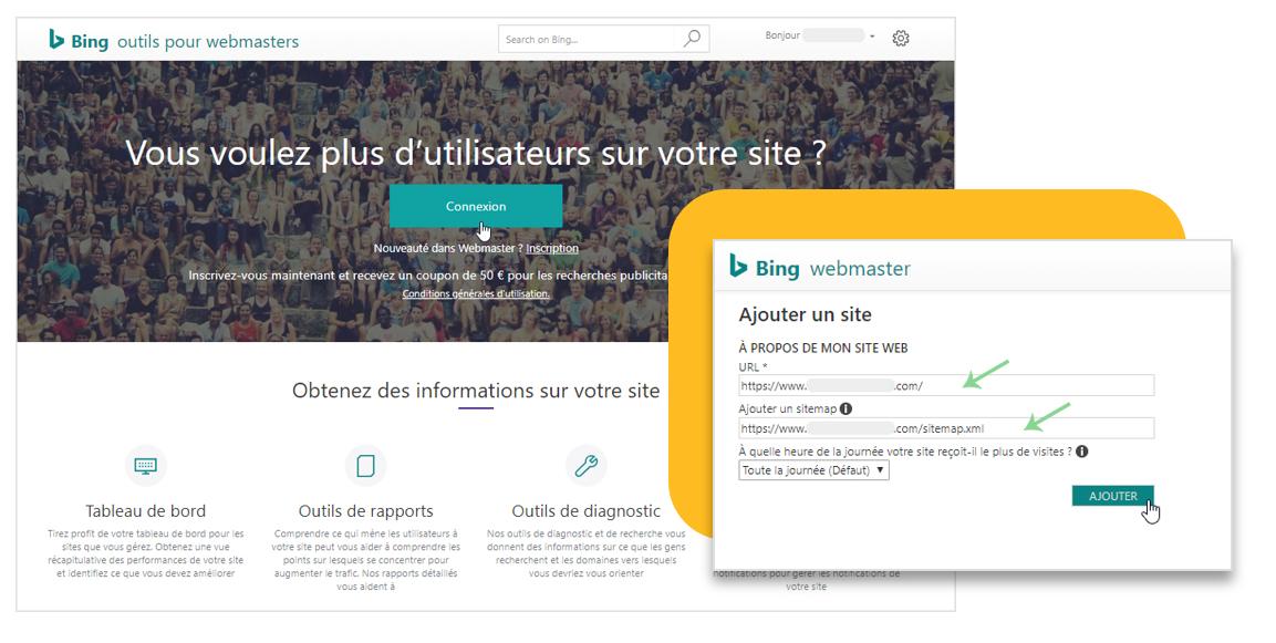 Bing outils pour Webmaters : Inscrire son site internet pour rendre visible dans Bing
