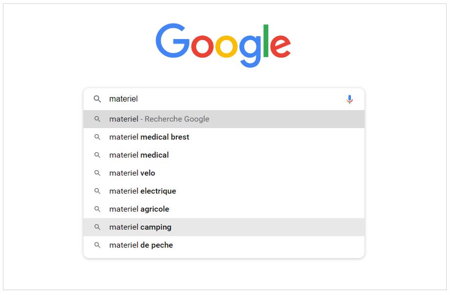 Google Suggest : outil pour trouver ses mots clés et aider au référencement naturel SEO de sa boutique en ligne