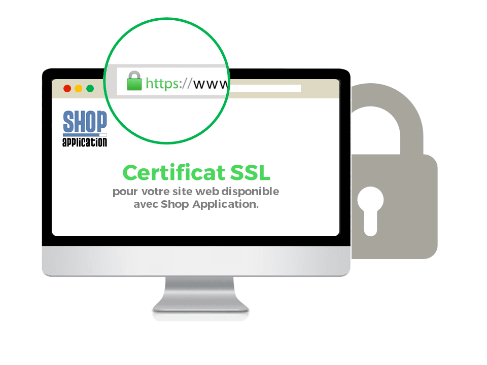 Certificat SSL pour sa boutique en ligne ou site internet vitrine avec la solution Shop Application