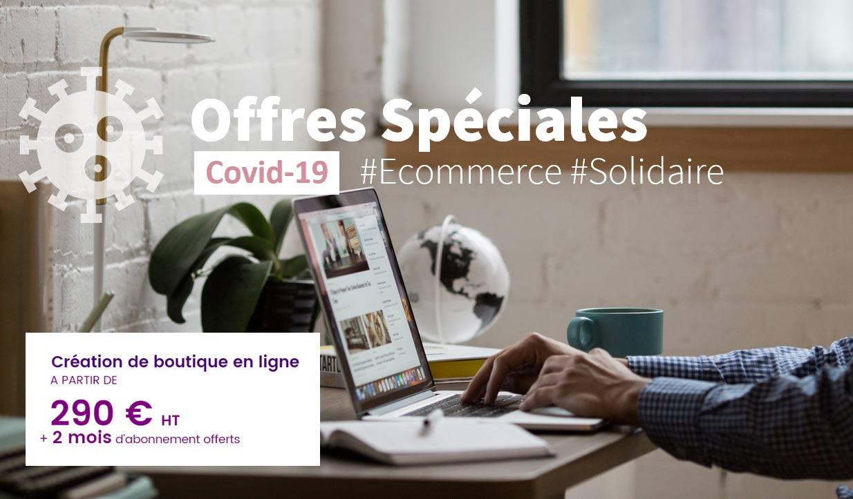 Offres speciales Covid-19 avec Shop Application pour favoriser la creation de boutique en ligne