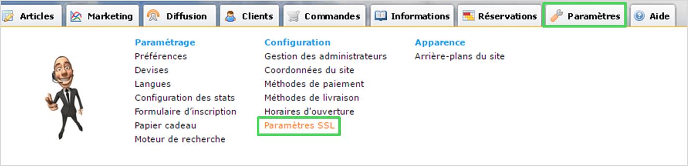 Certificat SSL disponible gratuitement dans Shop Application