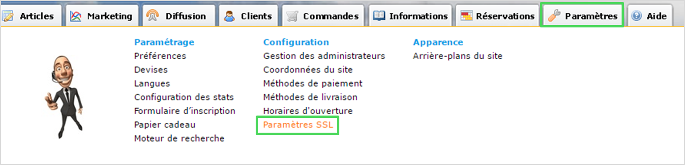 Certificat SSL disponible gratuitement dans Shop Application