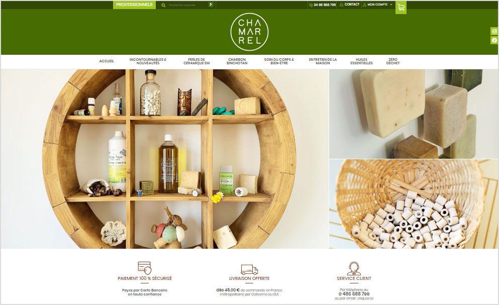 Refonte de la boutique en ligne Chamarrel avec Shop Application