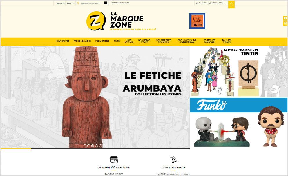Refonte du site e-commerce La Marque Zone avec Shop Application
