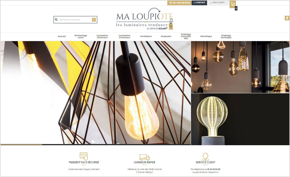 Refonte du site vente en ligne Ma Loupiote avec Shop Application