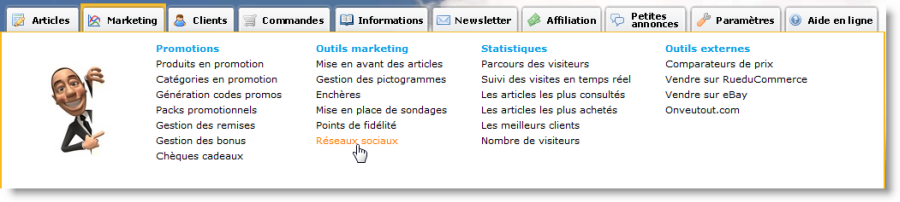 Fonctionnalités marketing pour les sites e-commerce