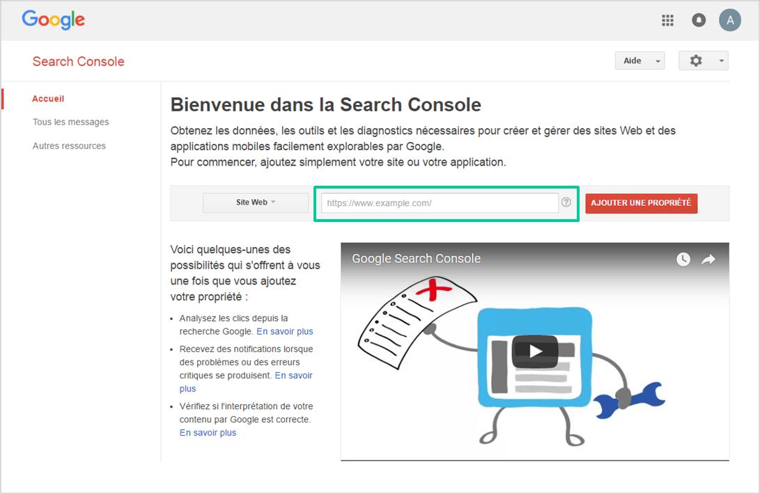 Certificat SSL : Nouvelle inscription de son site internet dans la Google Search Console