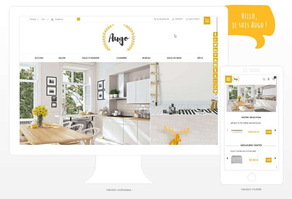 Presentation du theme Augo, ideal pour la creation de boutique en ligne ou site internet vitrine