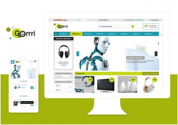 Theme Gerrri : Refonte ou Creation de boutique en ligne avec Shop Application