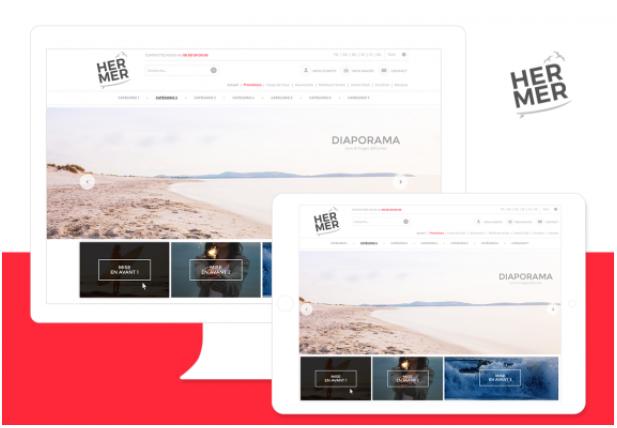 Theme Hermer : Refonte ou Creation de boutique en ligne avec Shop Application