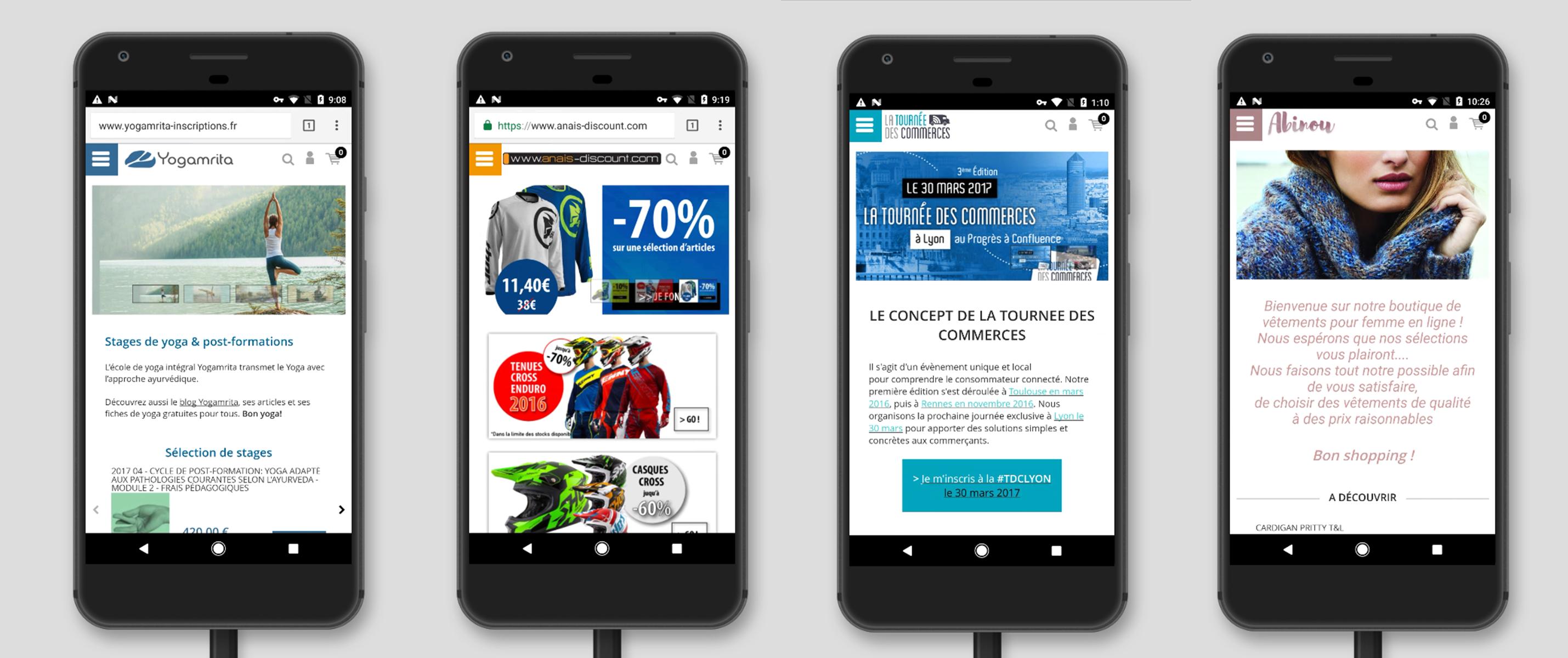 Solution Shop Application : Personnalisation de la page d accueil sur mobile pour site e-commerce ou site internet vitrine
