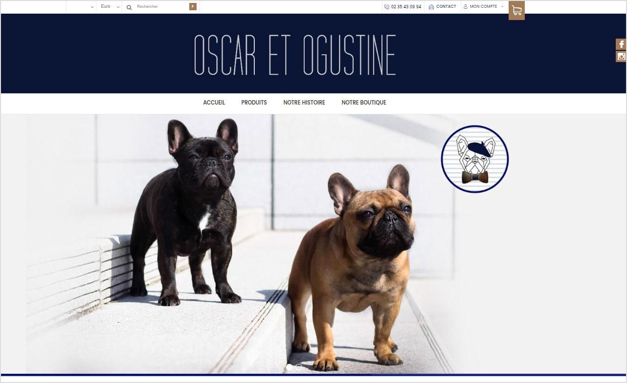 Belle image de diaporama pour la creation de boutique en ligne Oscar et Ogustine
